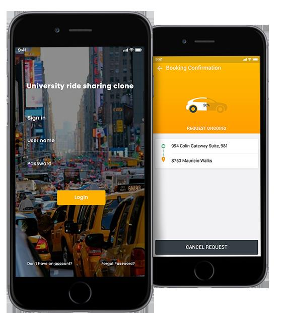 School Carpool App,University,College Carpool App,ride sharing clone