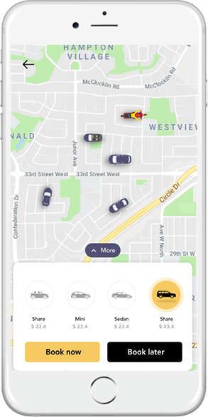 Uber Clone SEE NEARBY DRIVERS